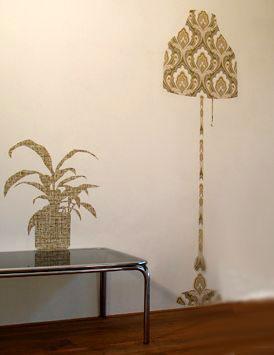контуры цветка и торшера в зале