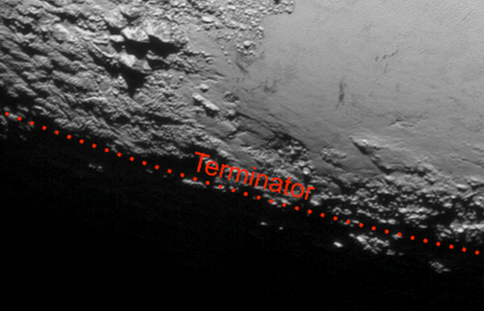 Фотоснимки Плутона: дымка в атмосфере.