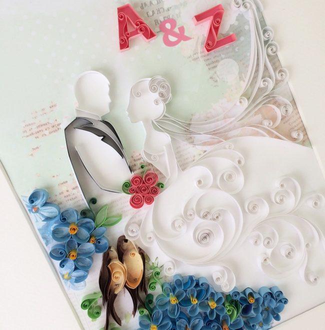 Красивая свадебная открытка