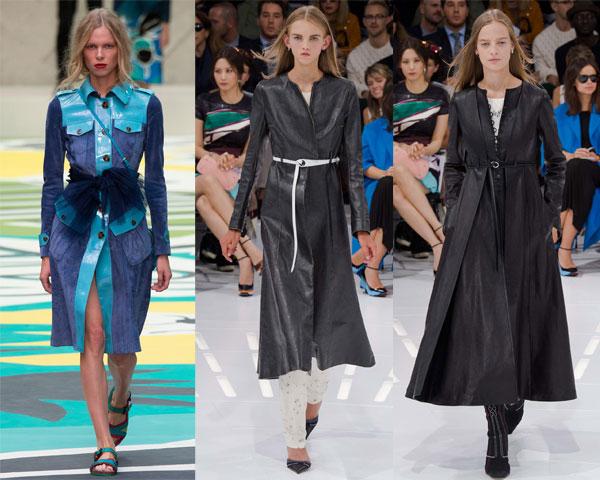 Модные ремни плащей весна-2015