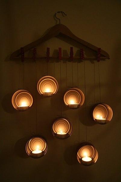 Элемент декора из консервных банок