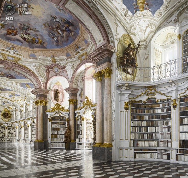 Австрия. Адмонт. Библиотека аббатства Адмонт. (Will Pryce)