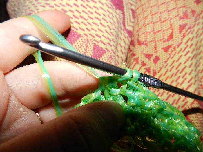 Вязание крючком петли вытягивание петель