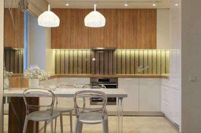 кухня в однокомнатной квартиры 35 кв. м.