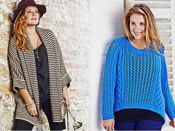 Кардиганы и свитера для полных осень-зима 2014-2015