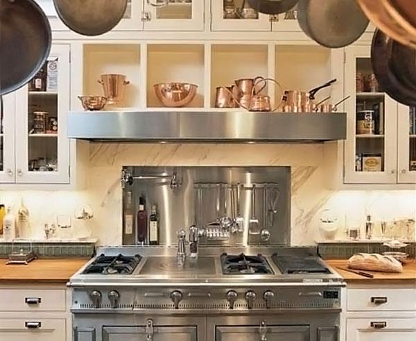 Медная посуда на английской кухне