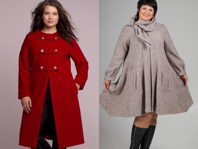Мода для полных осень-зима 2016-2017: легкое пальто