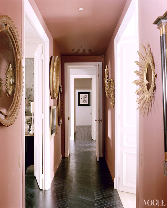 Дизайн коридора зеркала