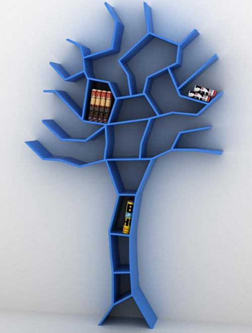 Дерево-полки на стене