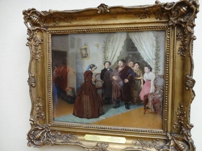 Картина *Приезд гувернантки в купеческий дом* в Третьяковской галерее | Фото: easy-going.ru