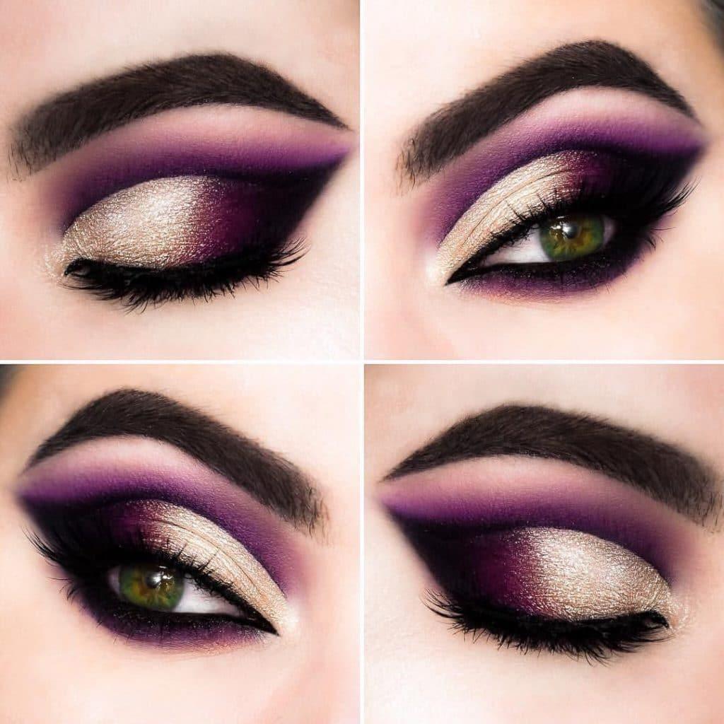 макияж в фиолетовых тонах пошаговое фото хорошего