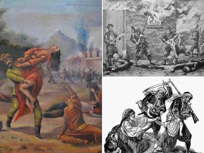 Турецкие зверства на Балканах.