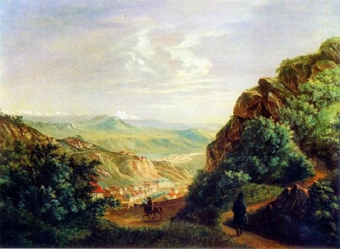 Пятигорск. Масло. (1837год). М.Ю. Лермонтов.