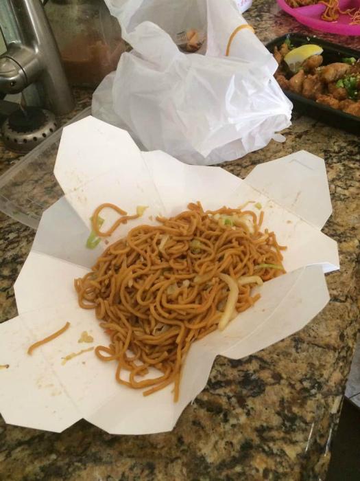 Как открыть упаковку китайской еды.