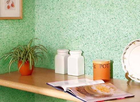 Флоковое покрытие стены