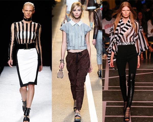 Модные блузки в полоску весна-лето 2015