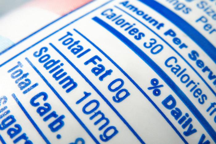 Приоритет продуктам с низким содержанием жира