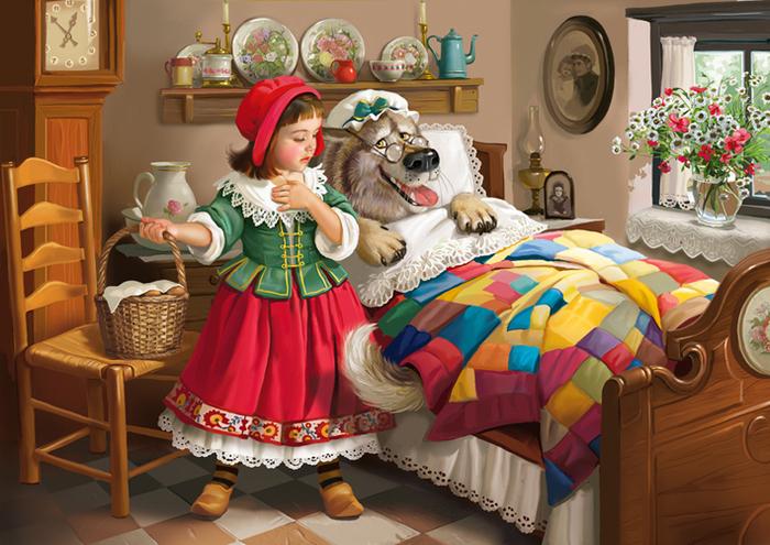 Красная шапочка. Волшебные иллюстрации Дорониной Татьяны (Doronina Tatiana).