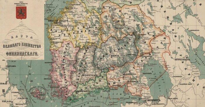 Границы русской Финляндии. /Фото: myfinlandia.ru