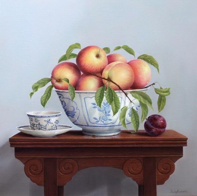 Peaches Teabowl & Table (644x640, 71Kb)