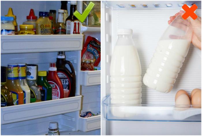 Хранение на двери холодильника. | Фото: Muttis Nähkästchen.