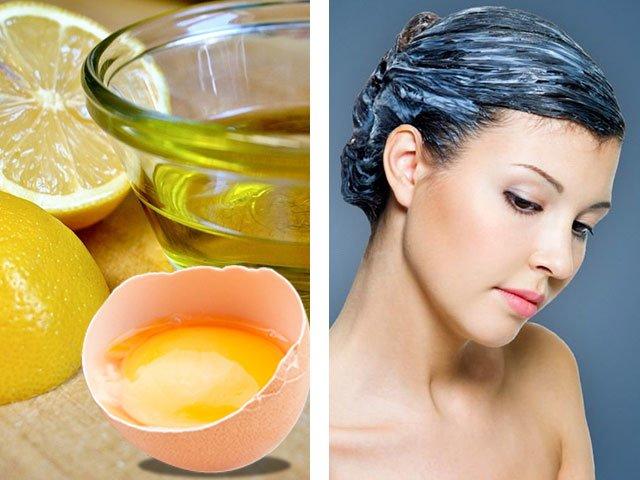 Маска для волос с яйцом и оливковым маслом