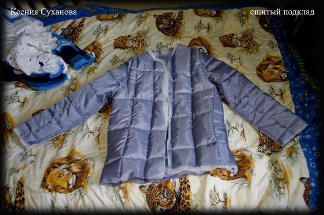 Теплая осенняя куртка с подкладом на синтепоне, фото № 16