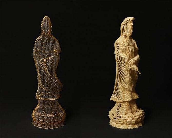 Удивительные скульптуры из бумаги от Хо Юн Шин