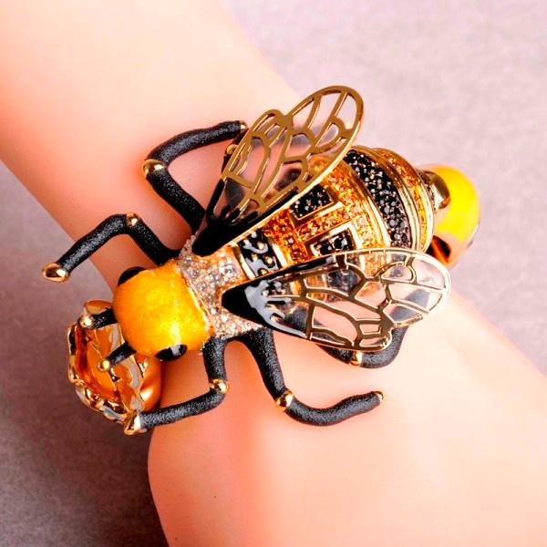 21..Blucome-Copper-Enamel-Wide-Big-Bangles-Flower-Lifelike-Bees-Bangle-For-Women-Crystal-Scrub-Transparent-Feathers (600x600, 351Kb)
