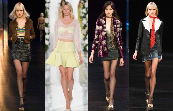 Модная длина юбок весна-лето 2015