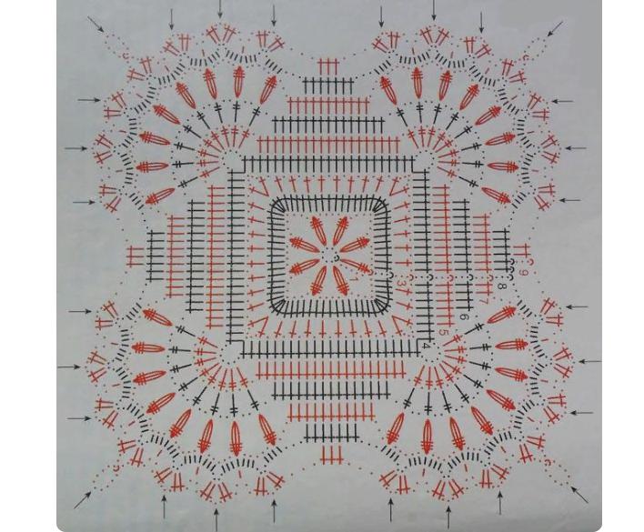 Схема к скатерти крючком