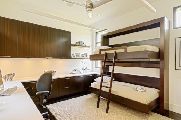 Складывающаяся двухъярусная кровать