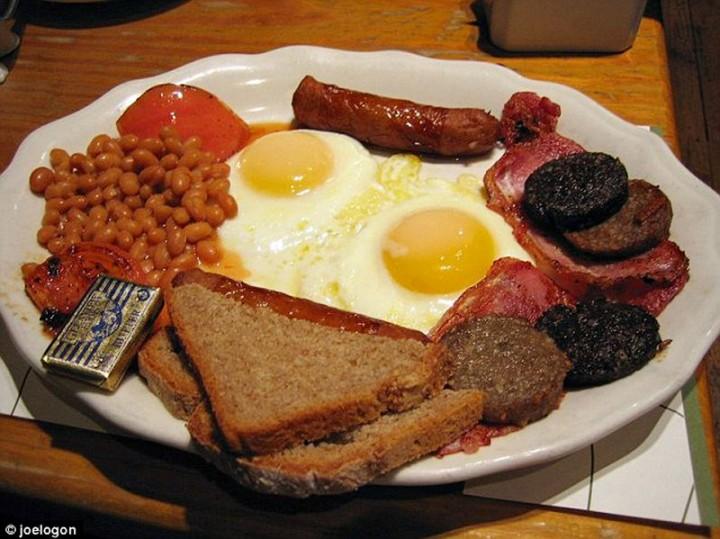 завтрак, еда, кофе, тост