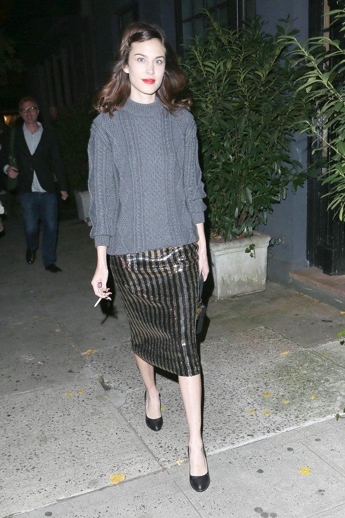юбка, модные юбки, 2014, 2015, что надеть на корпоратив, что надеть на вечеринку, пайетки, тренд пайетки, мода, женская мода, коктейльная мода