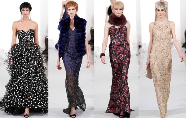 Модные вечерние платья осень-зима 2014/2015 от Oscar de la Renta