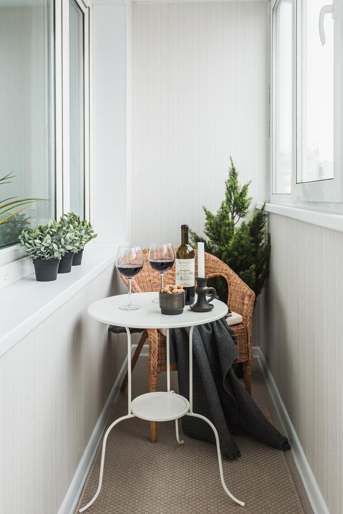 Фотография: Балкон в стиле Скандинавский, Квартира, Проект недели, Москва, ИКЕА, Анна Ковальченко, Кирпичный дом, 1 комната, до 40 метров – фото на InMyRoom.ru