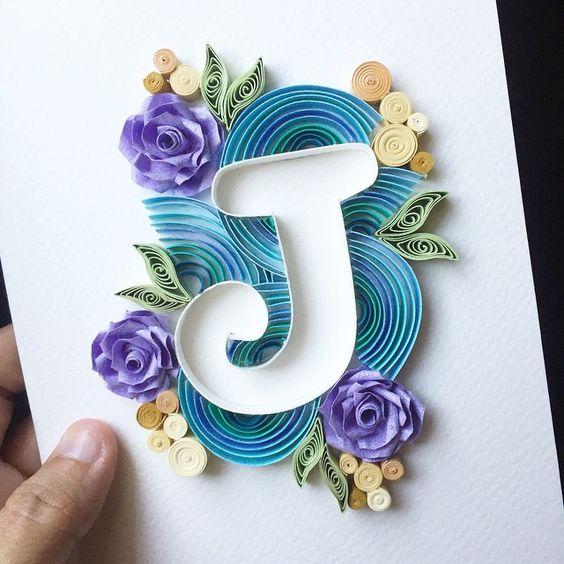 Красивые буквы из открыток своими руками