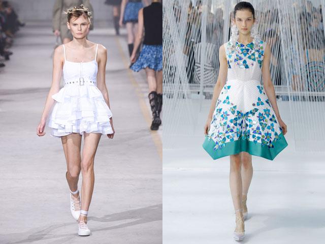 Модные платья 2017 в стиле беби-долл
