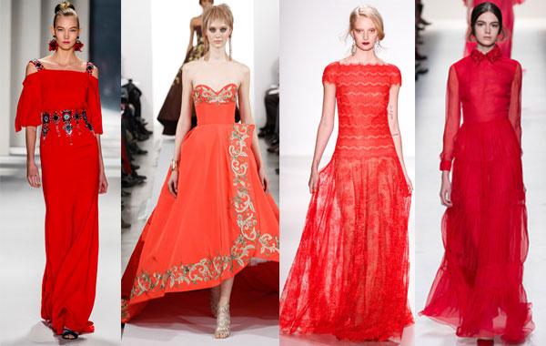 Модные красные вечерние платья осень-зима 2014/2015