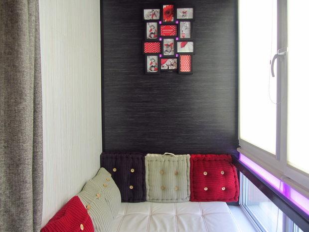 Подушки для балкона - дизайн балкона, 24 фото красивых интер.