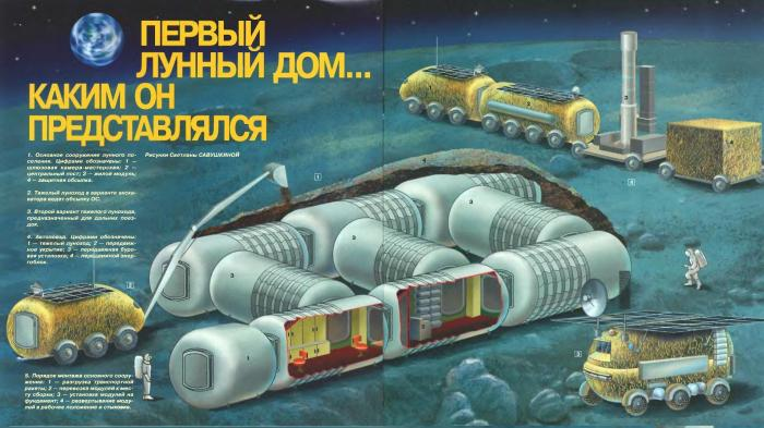 Лунные здания-трансформеры под проектировкой СССР (5 фото)