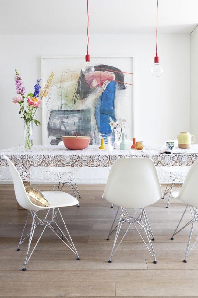 Скатерть на стол для кухни: скатерть поможет сделать ваш интерьер более завершенным