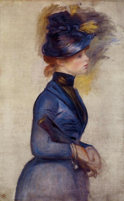 15 Молодая женщина в ярко-синем из консерватории 1877 (432x700, 117Kb)