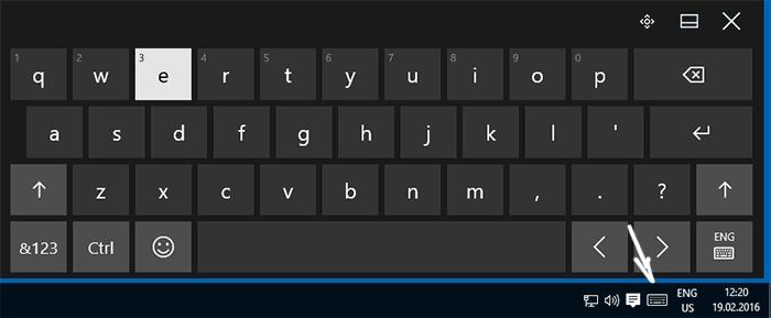 Кнопка клавиатуры в трее