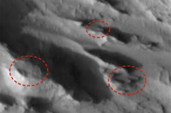 Кладбище космических кораблей на Марсе (фото из открытых источников)