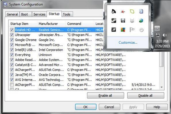 Программы, загружающиеся автоматически при запуске системы