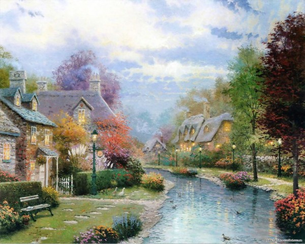 художник Thomas Kinkad-11