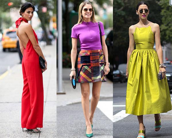 Уличная мода весна-лето 2015: Яркие оттенки