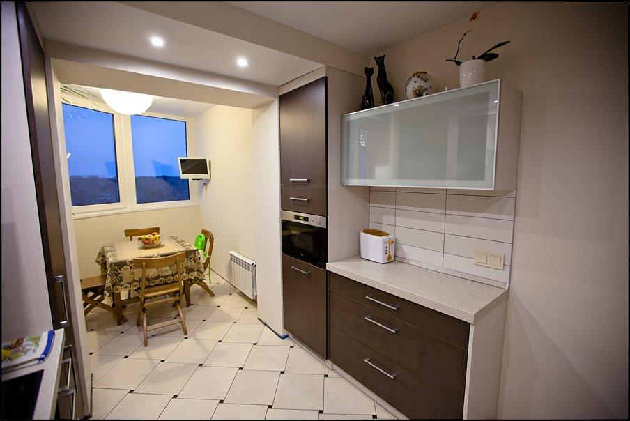 Кухня-столовая - объединение кухни с балконом. обсуждение на.