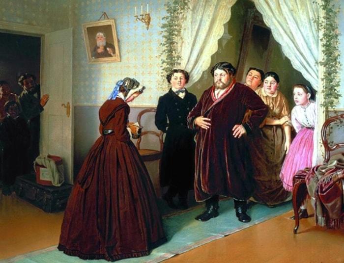 В. Перов. Приезд гувернантки в купеческий дом, 1866 | Фото: art-portrets.ru
